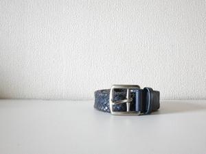 Coach Belt レザーベルト Navy