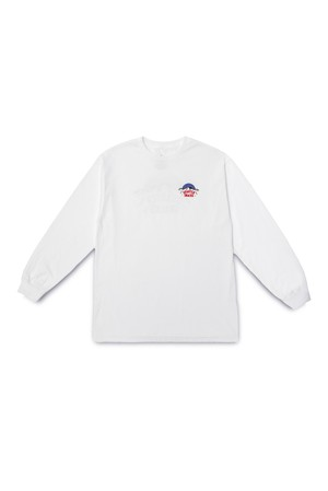 QUARTER SNACKS MOUNTAIN L/S TEE WHITE
