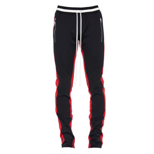 FEAR OF GOD DOUBLE STRIPED TRACK PANTS/BK RED