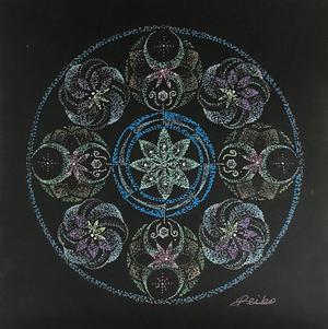 曼荼羅アートNo.15 「聖なる時間」