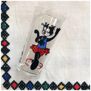 グラス コップ タンブラー ネコ 猫 1965 ヴィンテージ