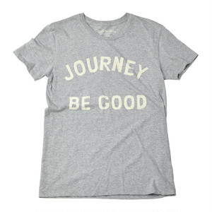JOURNEY BE GOOD S/S COTTON TEE [Melange Gray]