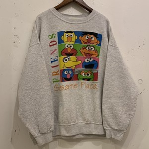 "90's ""SESAME STREET"" Print Sweat Shirts"