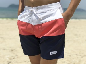 Threeborder Board Shorts(pink×navy)