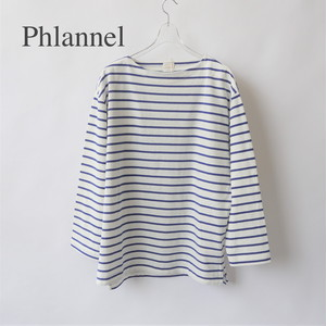 PHLANNEL SOL/フランネルソル・Washi Cotton Border Basque Shirt