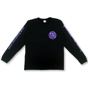 LONG SLEEVE T-shirts[黒×紫]