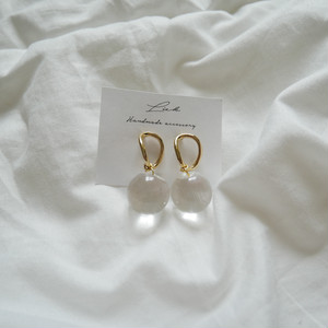 gold simple pierced earrings ✦ ゴールドシンプルピアス