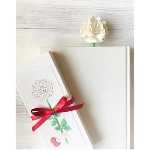 本から花咲く♡お花の栞 芍薬