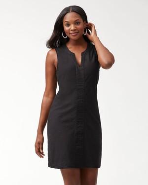 ARDEN SHORT SHIFT DRESS/BLACK