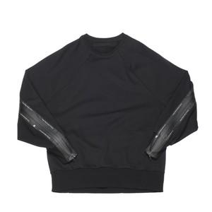 640CPM1-BLACK / スラッシングスウェットシャツ