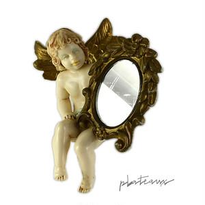 鏡を持つ天使 オーナメント イタリー