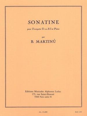 マルティヌー:ソナチネ/トランペット・ピアノ