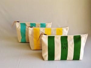 TSL for WOMAN stripe pouch L/ストライプポーチL