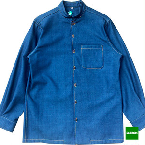 SAIKICKS L/S MAO COLLAR DENIM SHIRT