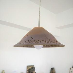 薪窯焼締 ランプシェード e-0050
