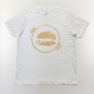はりねずみTシャツ 白