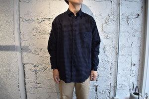 【Phlannèl】Cotton Wool Dot Pattern Over Shirt (Men's)