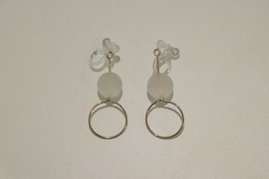 crystal circle frosty / Earrings