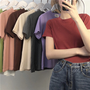 【Tシャツ】   無地 モノトーン カジュアル アンサンブル
