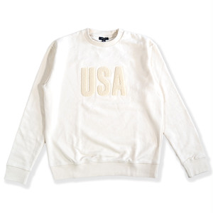 USA boucle print sweat