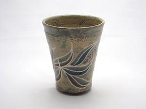 『ショート・フリーカップ』(月桃・黄緑) ~ 榕原陶房(がじゅばるとうぼう)~ 仲村実 作