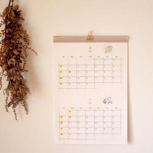 2018年暮らしのイラストカレンダー【壁掛け・2ヶ月表示】