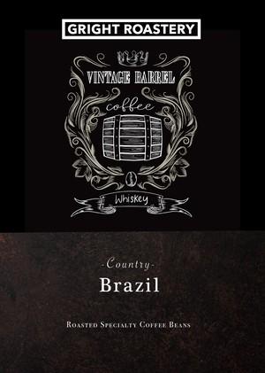 オーダー焙煎 300g「ブラジル ドゥアスポンチス農園 ヴィンテージ バレル ウイスキー」コーヒー豆