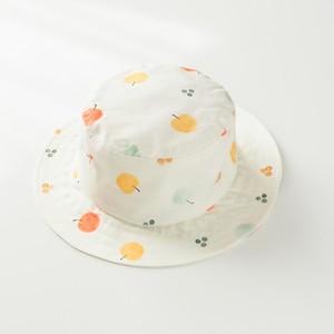 りんご/洗える夏の日よけ帽子