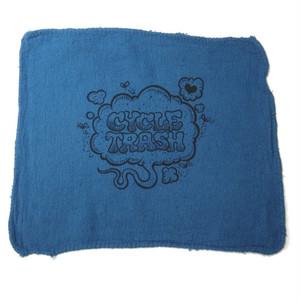 Cycle Trash 21th anniversary Shop Towel, Blue-Fart by Burrito Breath