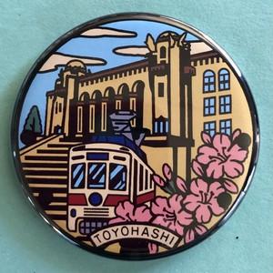 マンホール【マグネット】愛知県 豊橋市 豊橋市公会堂と路面電車