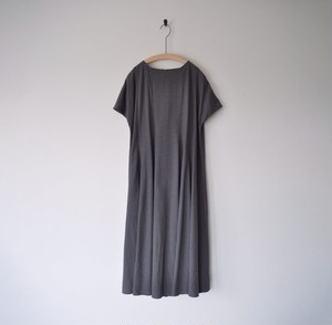 【 miho umezawa 】SILK LINEN CLOTH panel flare dress ※tall丈
