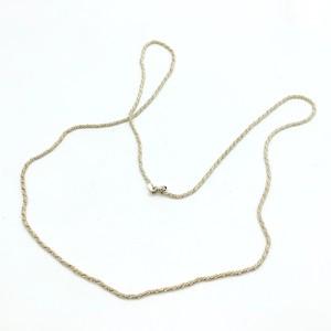 シルバー925 ロープチェーンネックレス(60cm)