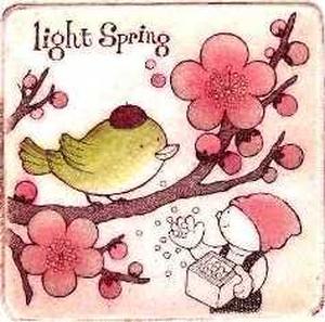 春かおる/歳時記シリーズ/2月 銅版画(作品のみ)
