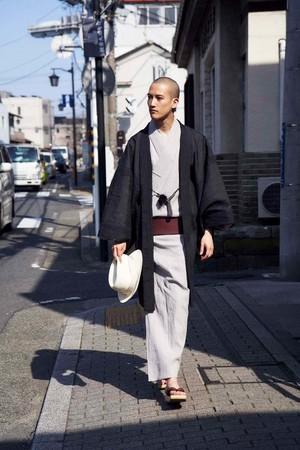 ゆかた / 手しぼ / 縞 / 銀鼠(With tailoring)