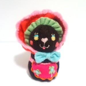 文化人形ねこ(黒)