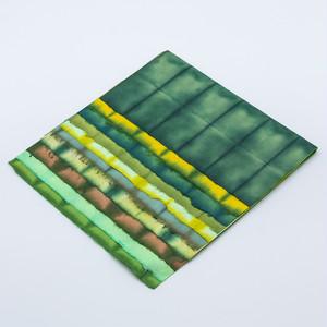 阿波 板締め紙 八ツ切り10色セット(緑・黄色系)