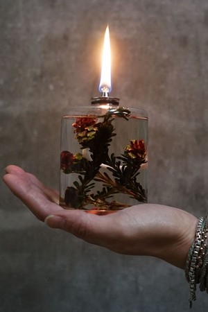 PLANTAHOLIC OIL LAMP No.9 -Red Flower-