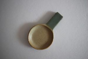 辻本路|カトラリーレスト フライパン ツートン 薄黄と緑