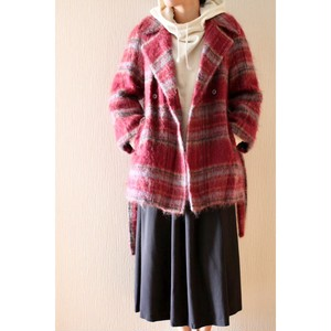 Vintage mohair mixed check jacket