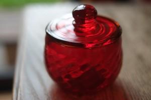 【カンナカガラス工房◆村松学】◆◆◆⁂ふたもの*赤◆◆⁂
