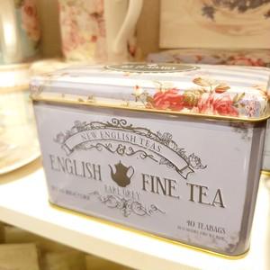 イングリッシュファイン ティー  紅茶缶 がとっておきたいかわいさ!アールグレイ