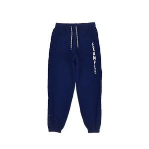 SIDE SNAP NYLON PANTS / DARK BLUE
