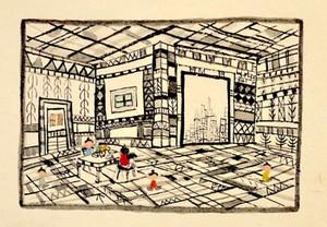 <まちが見える部屋>12x17cm/otanitaro.com大谷太郎/水彩