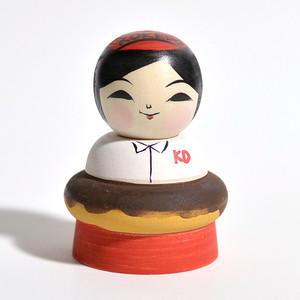 ドーナッツこけし(KOKEDO コケド) 約2寸 約6.6cm 阿保正文 工人(津軽系)#0036