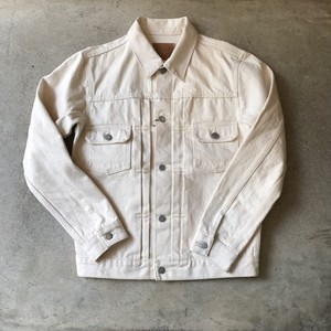 HATSKI 2 Pocket Denim Jacket ecru