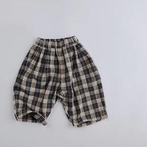 tartan checked pants