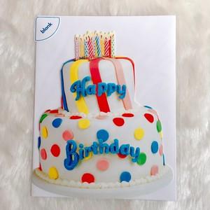 *再入荷*USA PaperHouse ペーパーハウス ダイカット メッセージカード バースデーケーキ