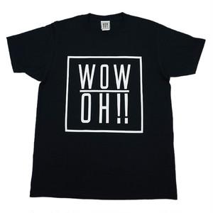 【wow OH!!】ワオ!!  オリジナルロゴTシャツ Black   wow-1 ※こちらの商品は受注生産品となります※