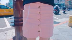 【SALE】フロントボタンAラインスカート