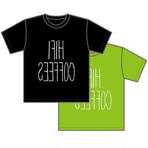 ロゴTシャツ(ブラック&ライムグリーン)